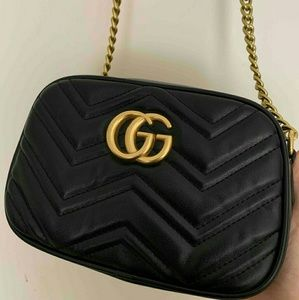 Gucci Marmont Leather Crossbody Bag